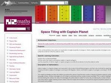 Space Tiling with Captain Planet Lesson Plan