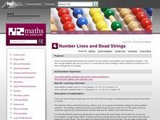 Number Lines and Bead Strings Lesson Plan
