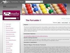 The Part-adder 1 Lesson Plan