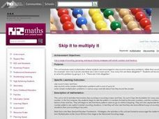 Skip it to multiply it Lesson Plan