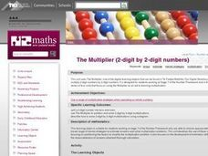 The Multiplier (2-digit by 2-digit numbers) Lesson Plan