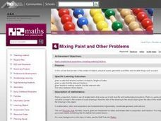 Mixing Paint and Other Problems Lesson Plan