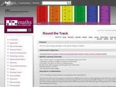 Round The  Track Lesson Plan