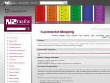 Supermarket Shopping Lesson Plan