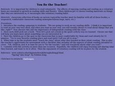 You Be The Teacher Lesson Plan