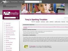 Tony's Spelling Troubles Lesson Plan
