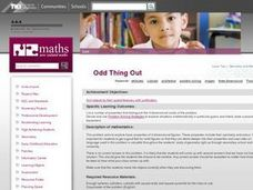 Odd Thing Out Lesson Plan