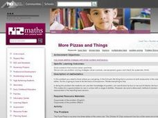 More Pizzas and Things Lesson Plan
