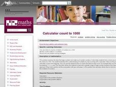 Calculator Count to 1000 Lesson Plan