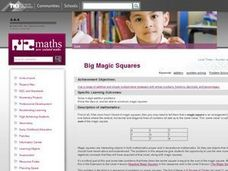 Big Magic Squares Lesson Plan