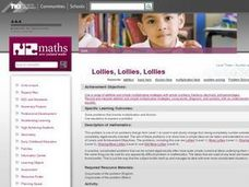 Lollies, Lollies, Lollies Lesson Plan