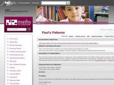 Paul's Patterns Lesson Plan