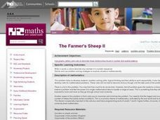 The Farmer's Sheep II Lesson Plan