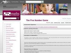 The Five Number Game Lesson Plan