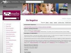 Go Negative Lesson Plan