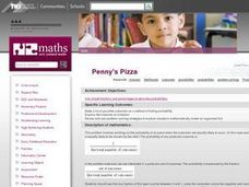 Penny's Pizza Lesson Plan