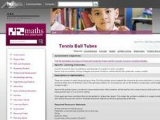 Tennis Ball Tubes Lesson Plan