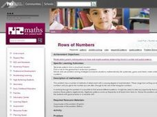 Rows of Numbers Lesson Plan