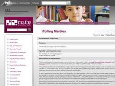 Rolling Marbles Lesson Plan