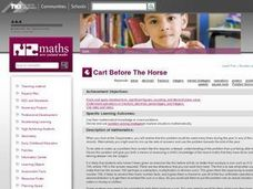 Cart Before The Horse Lesson Plan