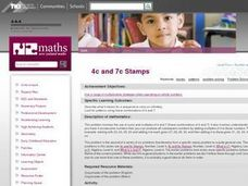 4c and 7c Stamps Lesson Plan