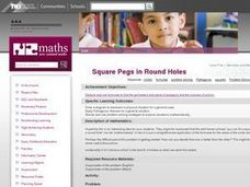 Square Pegs in Round Holes Lesson Plan