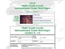 International Trade Web Pages Lesson Plan