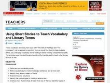Using Short Stories to Teach Vocabulary and Literary Terms Lesson Plan
