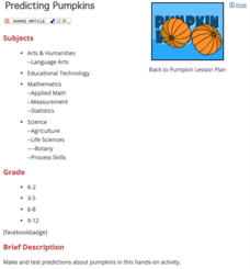 Predicting Pumpkins Lesson Plan