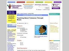 Teaching About Tolerance Through Music Lesson Plan
