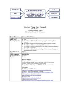 My How Things Have Changed Lesson Plan
