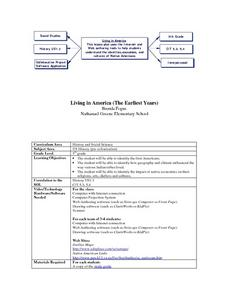 Living in America (The Earliest Years) Lesson Plan