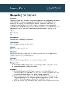 Recycling for Raptors Lesson Plan