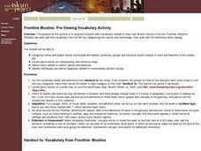 Frontline Muslims: Pre-Viewing Vocabulary Activity Lesson Plan