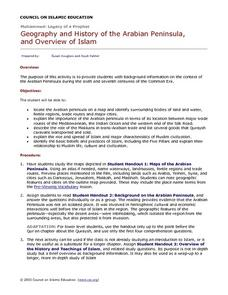 Geography and History of the Arabian Peninsula and Overview of Islam Lesson Plan