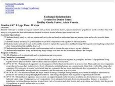 Ecological Relationships Lesson Plan