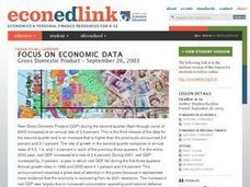 A Case Study: Gross Domestic Product - September 26, 2003 Lesson Plan