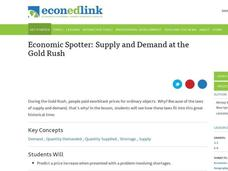 Economic Spotter: Supply and Demand at the Gold Rush Lesson Plan