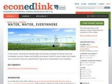 Economics: Water, Water, Everywhere Lesson Plan