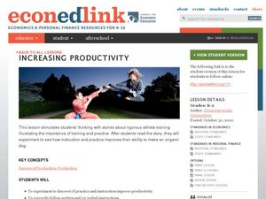Increasing Productivity Lesson Plan