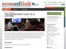 The Opportunity Cost of a Lifetime Lesson Plan