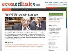 Fed Orders Interest Rate Cut Lesson Plan
