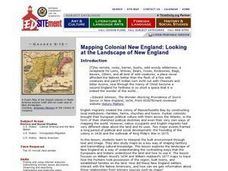 Mapping Colonial New England: Looking at the Landscape of New England Lesson Plan