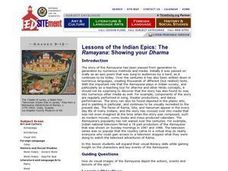 The Ramayana: Showing your Dharma Lesson Plan