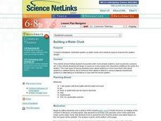 Building a Water Clock Lesson Plan