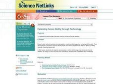 Extending Human Ability Through Technology Lesson Plan