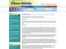 Science NetLinks: Changing World 1: Endocrine Disruptors Lesson Plan