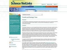 Science NetLinks: Fossils and Geologic Time Lesson Plan