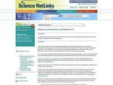 Genes, Environments, and Behavior 2 Lesson Plan