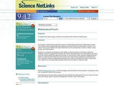 Mathematical Proofs Lesson Plan
